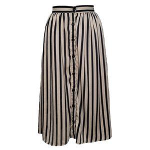 FAITH AND JOY Skirt Gathered Button Down Stripes